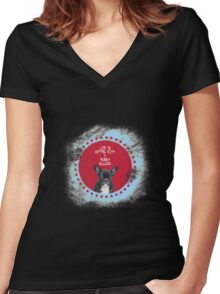 Life is Better with French Bulldog Women's Fitted V-Neck T-Shirt