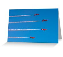 Red Arrows mirror roll Greeting Card