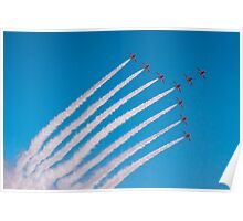 Red Arrows swan formation Poster