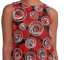 Red elegant abstract design Contrast Tank