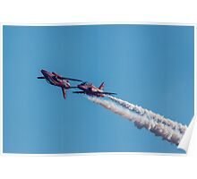 Red Arrows mirror pair Poster