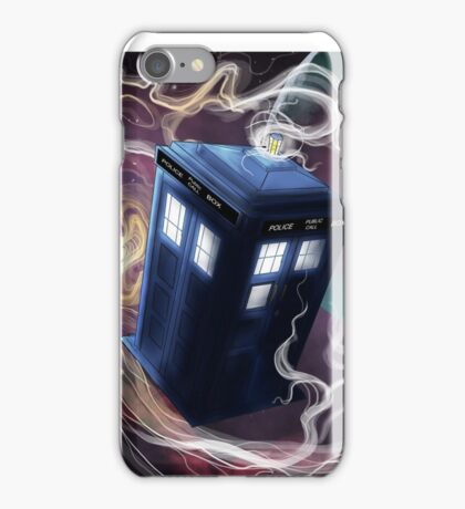 TARDIS In The Time Vortex iPhone Case/Skin
