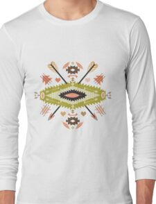 Seamless pattern in native american style Long Sleeve T-Shirt