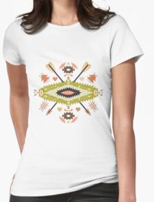 Seamless pattern in native american style Womens Fitted T-Shirt