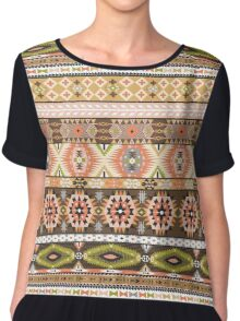Seamless pattern in native american style Chiffon Top