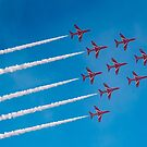Red Arrows Apollo formation by Gary Eason