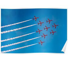 Red Arrows Apollo formation Poster