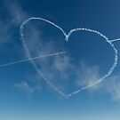 Red Arrows heart and spear by Gary Eason