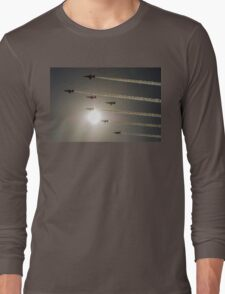 Red Arrows backlit arrival Long Sleeve T-Shirt