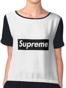 Supreme x Comme Des Garcons Black Box Logo Chiffon Top