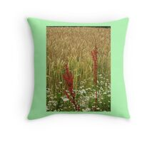 Wheat and Weeds Throw Pillow