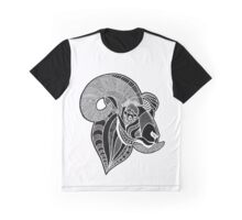 Zentangle Ram Graphic T-Shirt