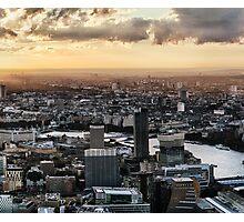 Sun Chasing Across London 2 of 3 Photographic Print