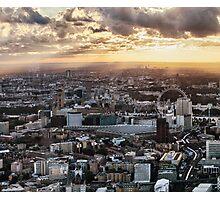Sun Chasing Across London 1 of 3 Photographic Print