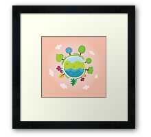 Green planet. We are going to rescue our planet! More trees everywhere Framed Print