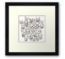 FRENCHIE FEVER Framed Print