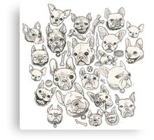 FRENCHIE FEVER Metal Print