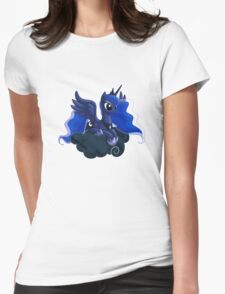 Luna on a Cloud Womens Fitted T-Shirt