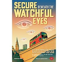 London CCTV Poster - Secure Beneath The Watchful Eyes Photographic Print