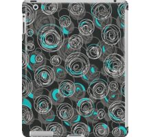 Gray and blue abstract art iPad Case/Skin