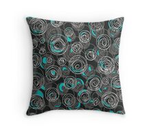 Gray and blue abstract art Throw Pillow