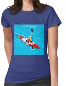Kayak Slalom Womens Fitted T-Shirt