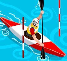 Kayak Slalom by aurielaki