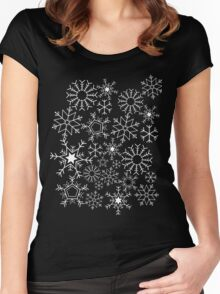 Invert Snowflakes Women's Fitted Scoop T-Shirt