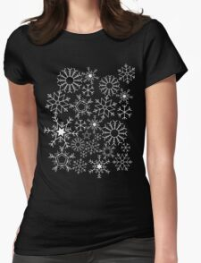 Invert Snowflakes Womens Fitted T-Shirt