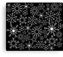 Invert Snowflakes Canvas Print