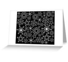 Invert Snowflakes Greeting Card