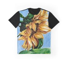 Sunflower Watercolor Painting Graphic T-Shirt