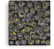 Gray and yellow abstract art Canvas Print