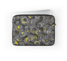 Gray and yellow abstract art Laptop Sleeve