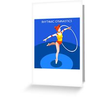 Gymnastics Rhythmic Hoop  Greeting Card