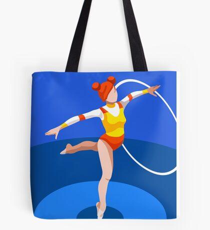 Gymnastics Rhythmic Hoop  Tote Bag