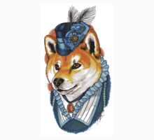 Victorian Shiba Inu One Piece - Long Sleeve