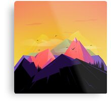 Oh the mountains Metal Print