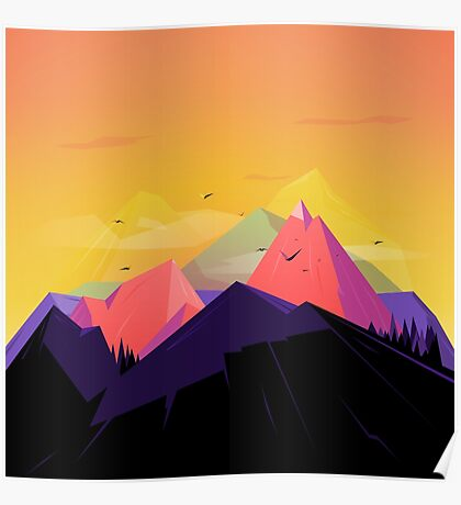 Oh the mountains Poster