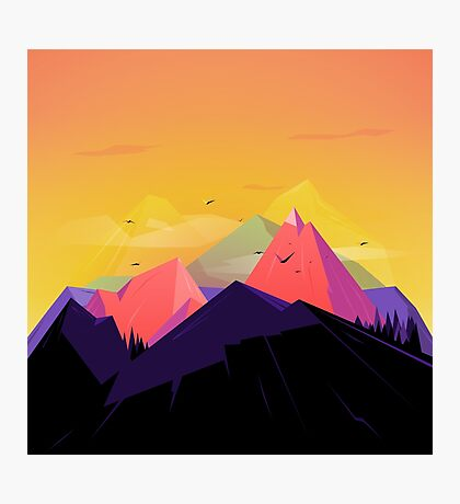 Oh the mountains Photographic Print
