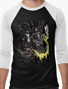 A Deluge of Plague and Stardust Men's Baseball ¾ T-Shirt