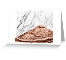 Rose gold foil marble geo Greeting Card