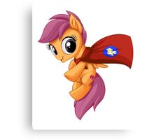 Scootaloo Caped Crusader Canvas Print