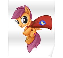 Scootaloo Caped Crusader Poster