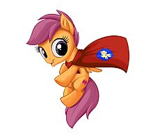 Scootaloo Caped Crusader Photographic Print