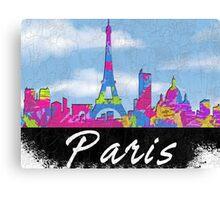 Paris France Skyline Canvas Print