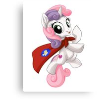 Sweetie Belle Caped Crusader Canvas Print