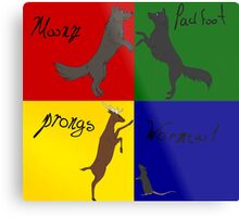 Moony, Wormtail, Padfoot, Prongs  Metal Print