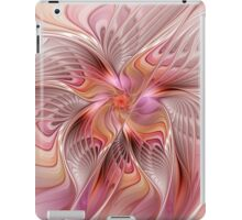 Abstract Butterfly, Colorful Fantasy Fractal Art iPad Case/Skin