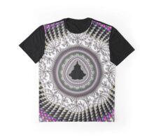 Crochet Fractal Art black pink white Graphic T-Shirt